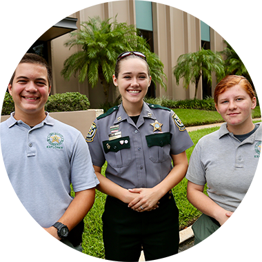 LCSO youth programs such as Explorers, Teen Driver Challenge and Project Kid Connect
